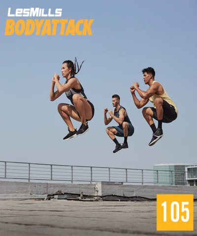 LESMILL BODY ATTACK 105 VIDEO+MUSIC+NOTES